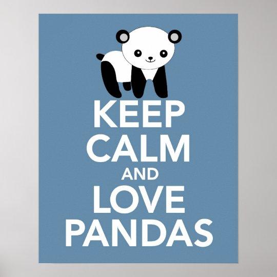 Keep Calm and Love Pandas print or poster