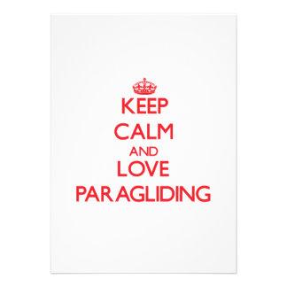 Keep calm and love Paragliding Card