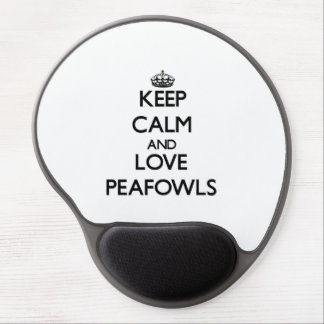 Keep calm and Love Peafowls Gel Mouse Mats