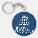 Keep Calm and Love Penguins (any colour)