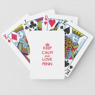 Keep calm and love Penn Deck Of Cards