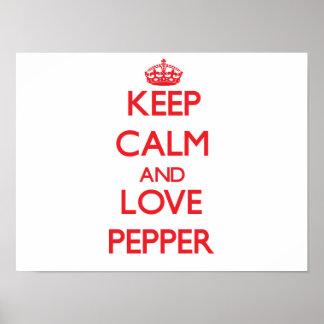 Keep calm and love Pepper Print