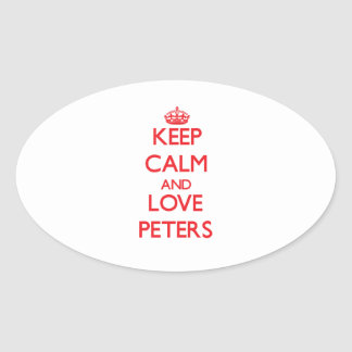 Keep calm and love Peters Stickers
