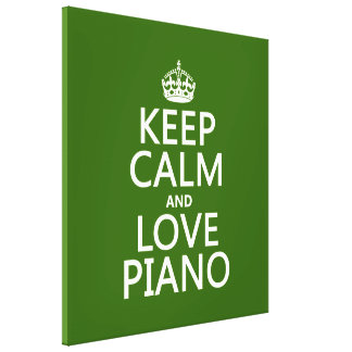 Keep Calm and Love Piano (any background color) Canvas Prints