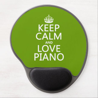 Keep Calm and Love Piano (any background color) Gel Mouse Pad