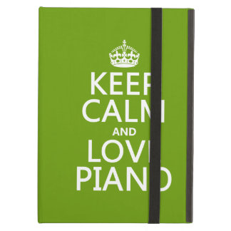 Keep Calm and Love Piano (any background color) iPad Air Cover