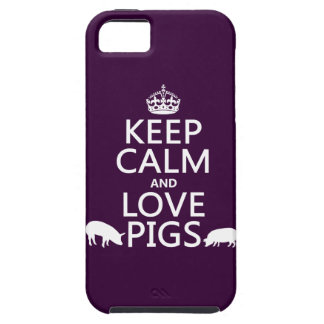 Keep Calm and Love Pigs (all colours) iPhone 5 Cover