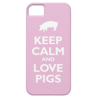 Keep Calm and Love Pigs (light pink) iPhone 5 Case