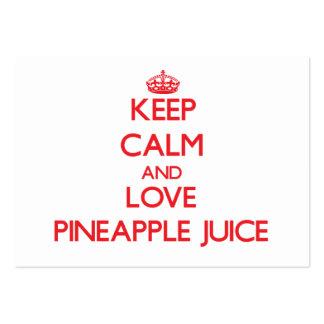 Keep calm and love Pineapple Juice Business Card