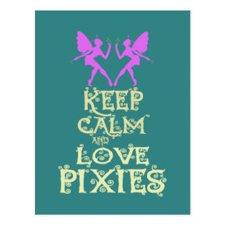 Keep Calm and Love Pixies art print design Postcard