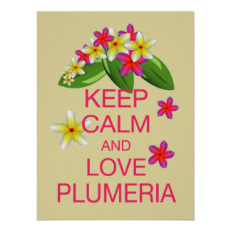 Keep Calm and Love Plumeria Fine Art Poster