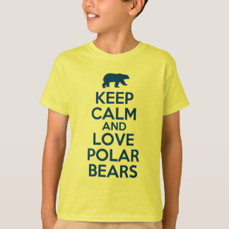 keep calm and love polar bears T-Shirt