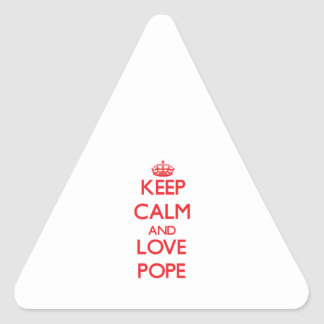 Keep calm and love Pope Sticker