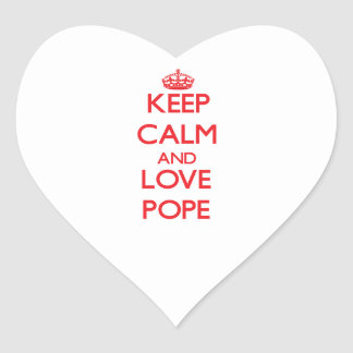 Keep calm and love Pope Stickers