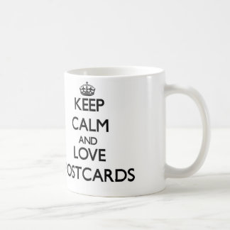 Keep calm and love Postcards Coffee Mug