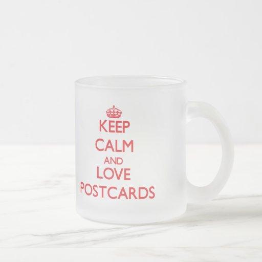 Keep calm and love Postcards Coffee Mugs