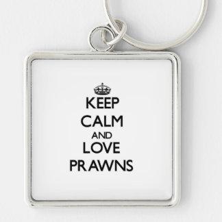 Keep calm and Love Prawns Key Chain