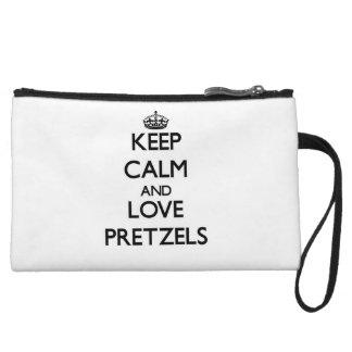 Keep calm and love Pretzels Wristlet