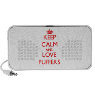 Keep calm and love Puffers Portable Speakers