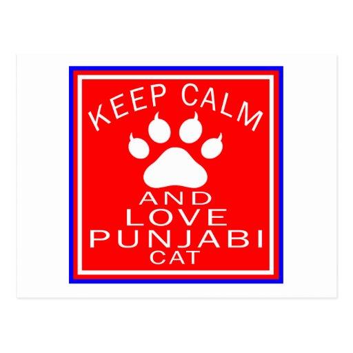 Keep Calm And Love Punjabi Postcard
