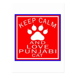 Keep Calm And Love Punjabi Postcards