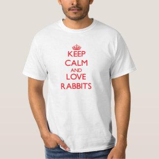 Keep calm and love Rabbits Shirt
