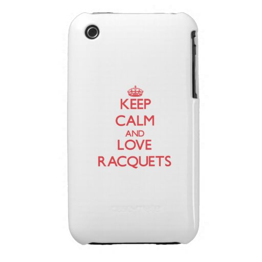 Keep calm and love Racquets Case-Mate iPhone 3 Case