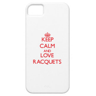 Keep calm and love Racquets iPhone 5 Cover