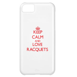 Keep calm and love Racquets Case For iPhone 5C