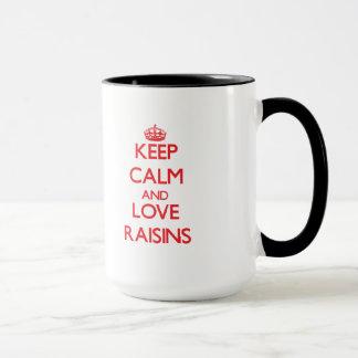 Keep calm and love Raisins Mug