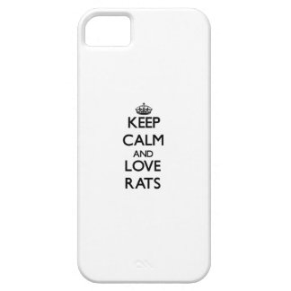 Keep calm and Love Rats iPhone 5 Cover