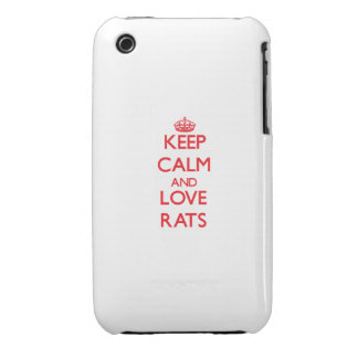 Keep calm and love Rats iPhone 3 Cases