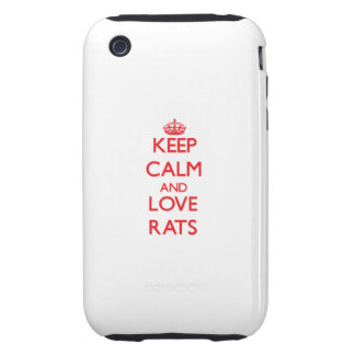 Keep calm and love Rats Tough iPhone 3 Cover