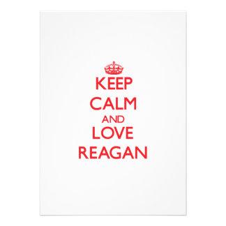 Keep Calm and Love Reagan Custom Invite