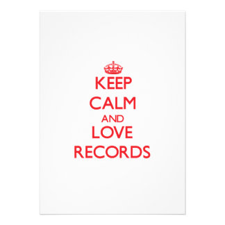 Keep calm and love Records Invitation