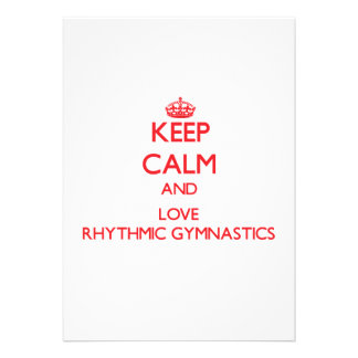 Keep calm and love Rhythmic Gymnastics Personalized Announcements