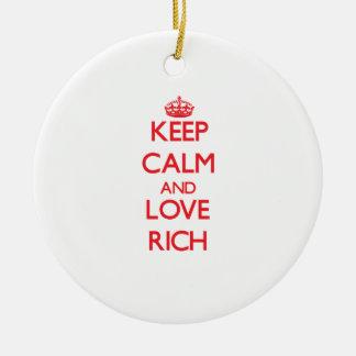 Keep Calm and Love Rich Christmas Ornaments
