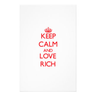 Keep Calm and Love Rich Stationery