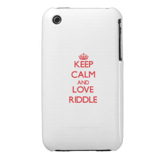 Keep calm and love Riddle iPhone 3 Cover
