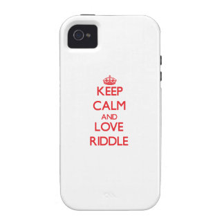 Keep calm and love Riddle Vibe iPhone 4 Case