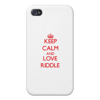 Keep calm and love Riddle iPhone 4/4S Case