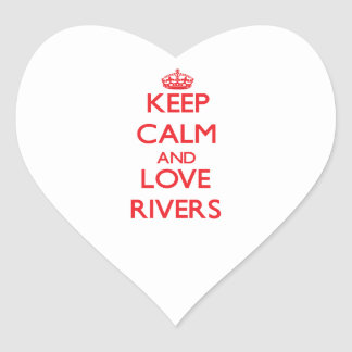 Keep calm and love Rivers Sticker
