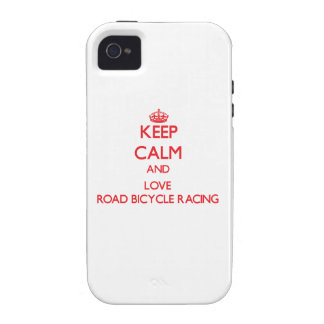 Keep calm and love Road Bicycle Racing iPhone 4 Covers