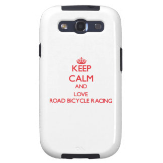 Keep calm and love Road Bicycle Racing Samsung Galaxy S3 Cover