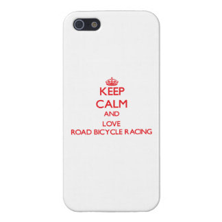 Keep calm and love Road Bicycle Racing iPhone 5/5S Covers