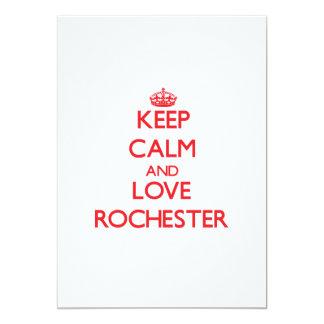 Keep Calm and Love Rochester 13 Cm X 18 Cm Invitation Card