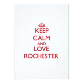 Keep Calm and Love Rochester 5x7 Paper Invitation Card