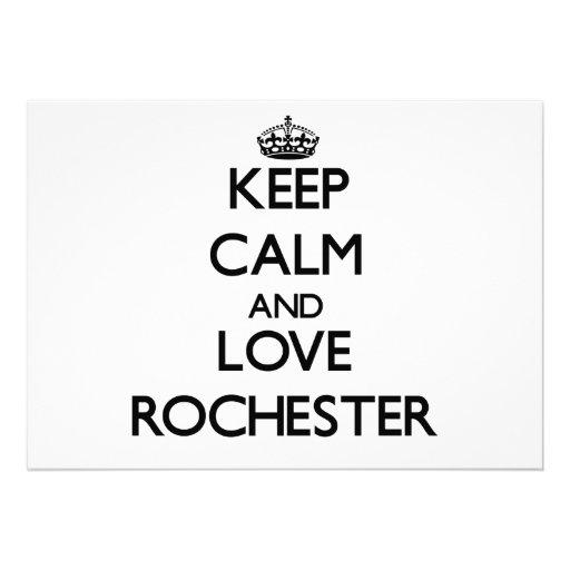 Keep Calm and love Rochester Invite