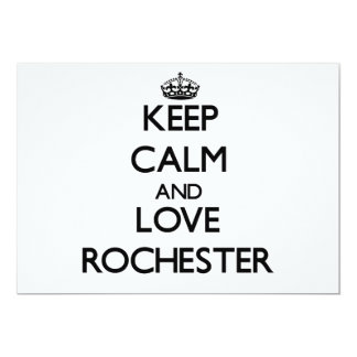 "Keep Calm and love Rochester 5"" X 7"" Invitation Card"