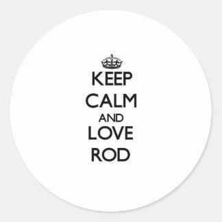 Keep Calm and Love Rod Sticker